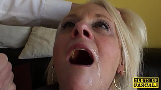 Bigtitted brit gran gets rough domination