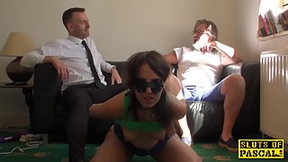 Slutty UK wife rough screwed in front of hubby