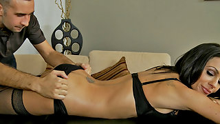 Kirsten Price enjoys a massage and fuck during her birthday