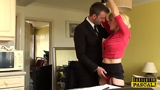 BDSM milf british instructed to ride by maledom