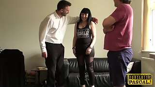 Submissive britt squirts for rough maledom