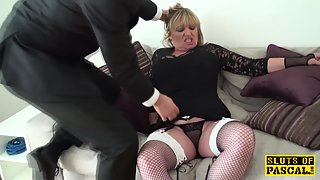 Mature british hooker disciplined over and plowed